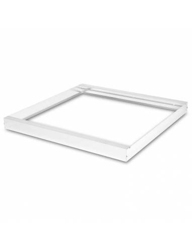 Marco de 60 x 60 cms. para transformar panel led en plafón led. Color blanco.