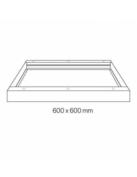 Marco de 60 x 60 cms. para transformar panel led en plafón led. Dibujo tecnico.