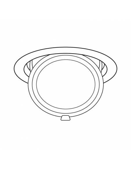 Foco empotrable LED, modelo HALIDE ROUND, dibujo técnico.
