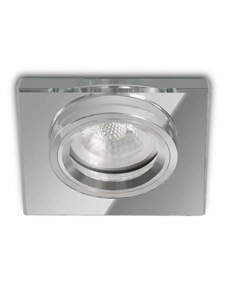 Ojo de buey MIRROR, aro empotrable de aluminio y cristal. Espejo.