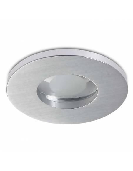 Ojo de buey, OUT IP65, aro empotrable redondo, aluminio.