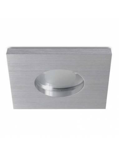 Ojo de buey, OUT IP65, aro empotrable cuadrado, aluminio.