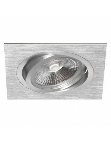 Ojo de buey, ALUM AR111 CUADRADO, aro de empotrar, aluminio.