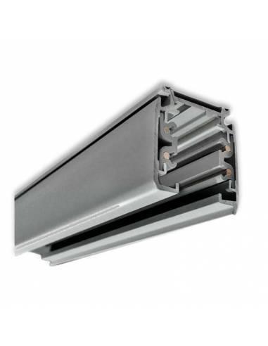 Carril trifásico modelo ALASKA de 1 metro. Color gris.