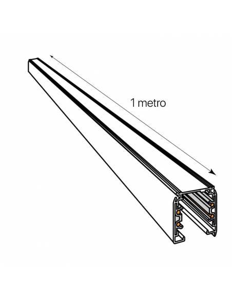 Carril trifásico modelo ALASKA de 1 metro. Medida en longitud.