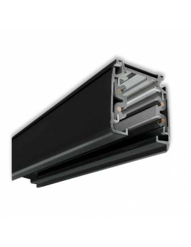 Carril trifásico modelo ALASKA de 3 metros. Color negro.