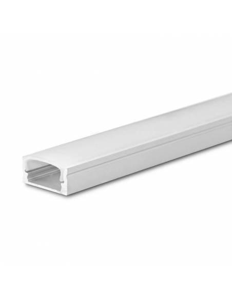 Perfil de aluminio para tiras LED, S-173 de SUPERFICIE (2 metros).