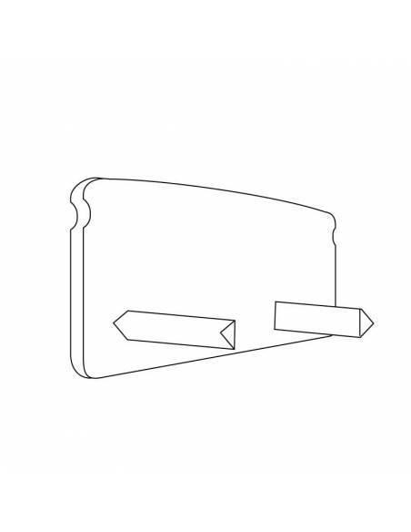Tapa final para perfil aluminio S-173 de superficie. Dibujo técnico