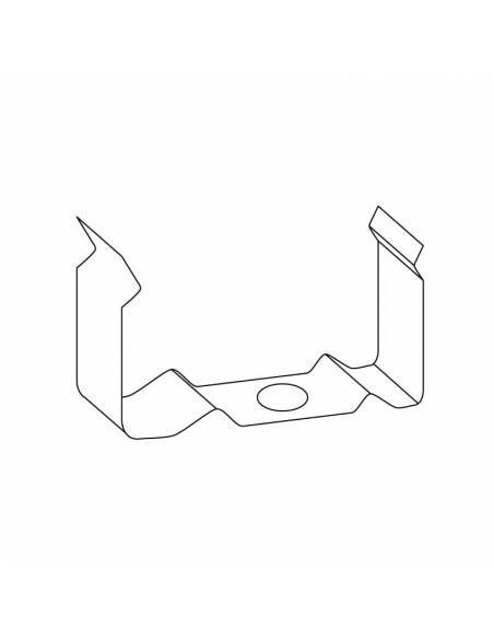 Clip metálico para perfiles aluminio S-172 de dos metros, superficie o empotrable. Dibujo técnico.