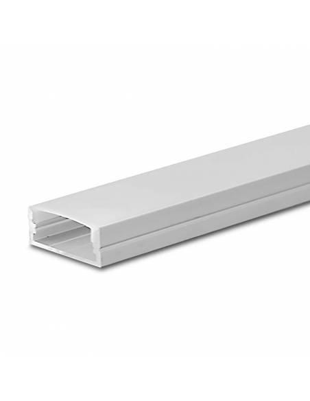 Perfil de aluminio D-235 de superficie, longitud de 2 metros, para tiras de led.
