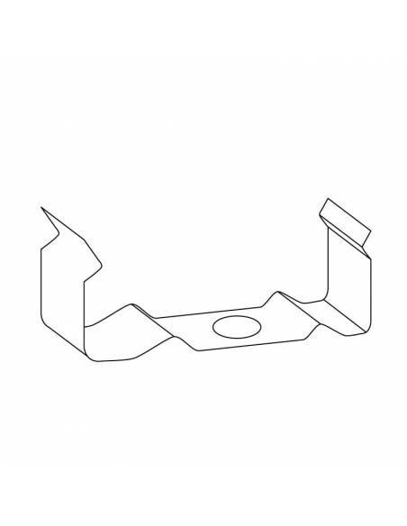 Clip metálico para perfil de aluminio D-235 para tiras de led. Dibujo técnico.