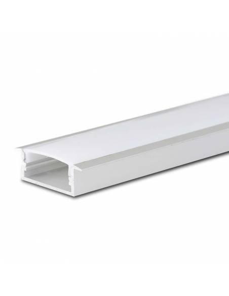 Perfil de aluminio, modelo D-235 de empotrar, para tiras de led.