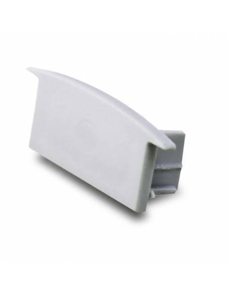 Tapa final para perfil de aluminio D-235 de empotrar, para tiras de led.
