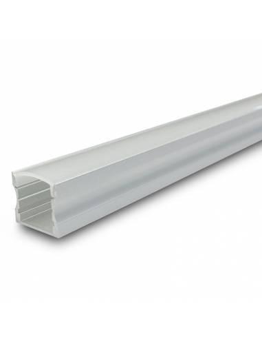 Perfil aluminio modelo S.ALTO-170 de 2 metros de longitud, para tiras de led.