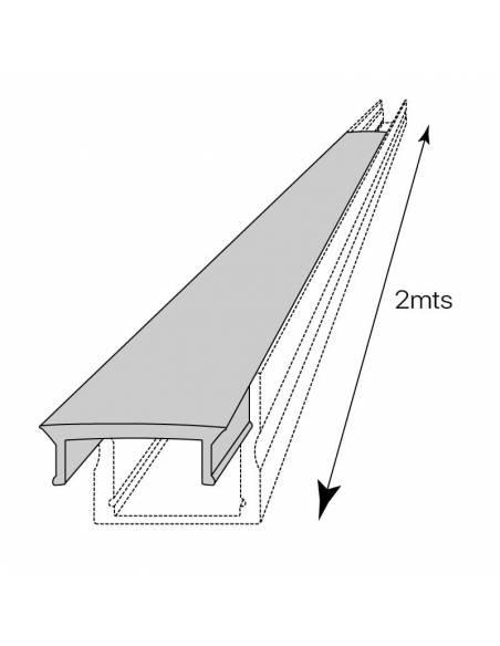 Difusor opal para perfil aluminio S.ALTO-170 de 2 metros. Dibujo técnico.