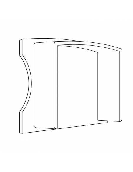 Tapa final de perfil aluminio S.ALTO-170 de superficie, para tiras de led. Dibujo técnico.
