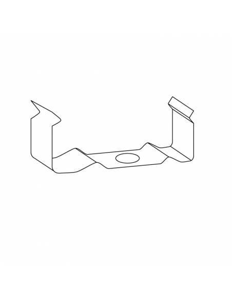 Clip metálico para perfil S.ALTO-170 metálico para tiras de led. Dibujo técnico.