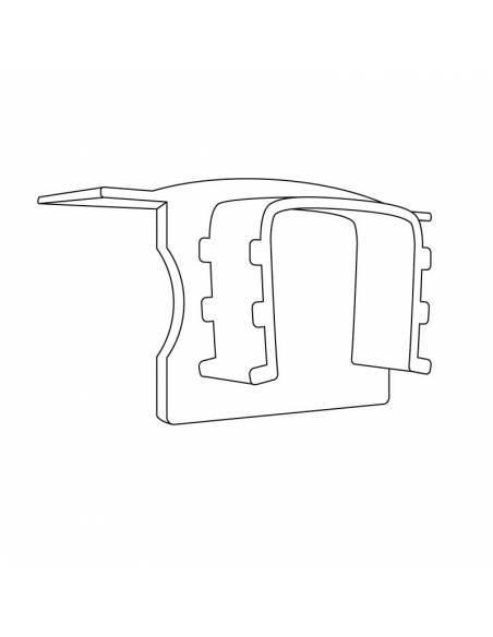 Tapa final para perfil aluminio S.ALTO-170 empotrable, para tiras de led. Dibujo técnico.