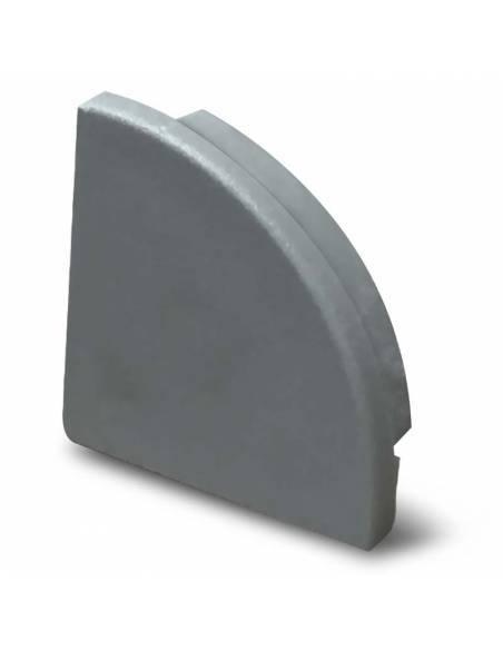 Tapa final para perfil aluminio E-163 de esquina, para tiras de led.