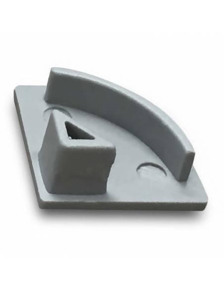 Tapa final para perfil aluminio E-163 de esquina, para tiras de led. Imagen 2.
