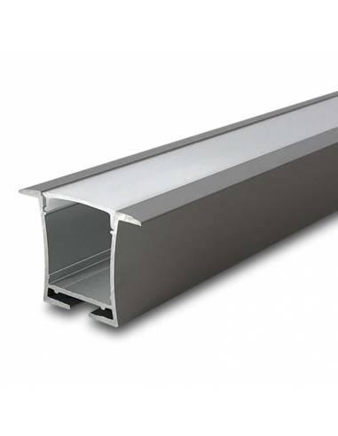 Perfil de aluminio D-360 de empotrar, para tiras de led.