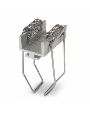 KIT metálico de pinza doble, para perfil D-360 de empotrar.