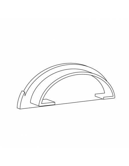 Tapa para perfil S-179 flexible de superficie, para tiras de led. Dibujo técnico.
