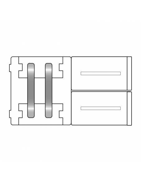 Unión directa 2 pin para tiras de led 12V y 24V monocolor. Dibujo técnico