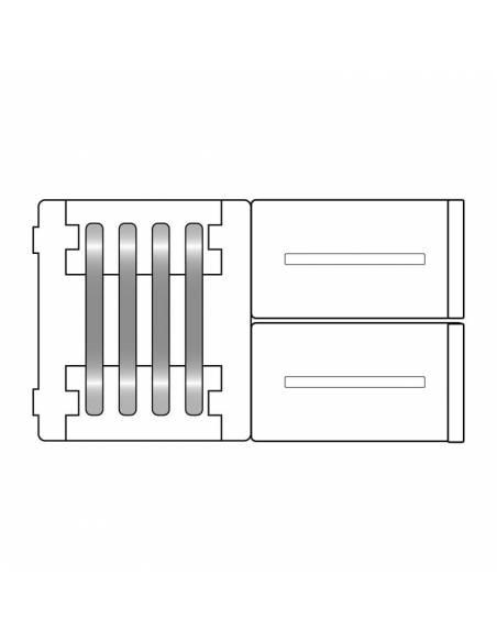Unión directa de 4 pines. Conector para tiras de led de 12V y 24V de RGB. Dibujo técnico.