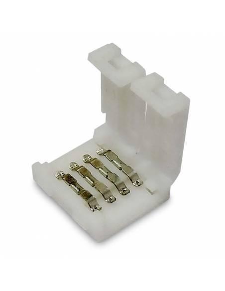 Unión directa de 4 pines. Conector para tiras de led de 12V y 24V de RGB, con tapa abierta.