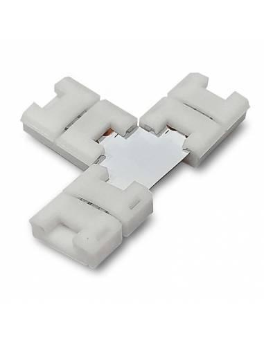 Conector T de 2 PIN para conectar tres TIRAS DE LED monocolor de 12V o 24V.