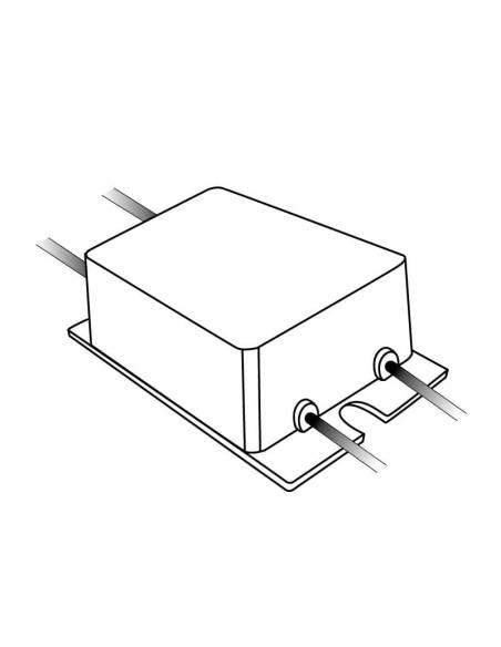 Transformador para tira de led de 12V, driver IP67 de 10W. Dibujo técnico.