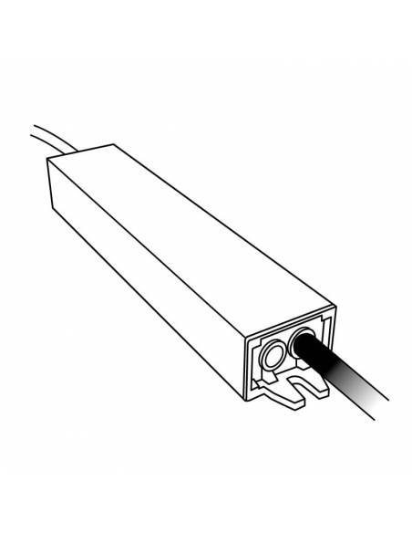 Transformador para tiras de LED de 12V, Driver IP67 y potencia de 20W. Dibujo técnico.