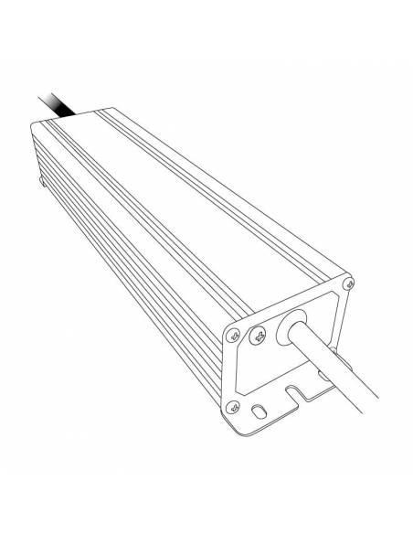 Transformador para tiras LED de 12V. Driver con protección IP67. Dibujo técnico.