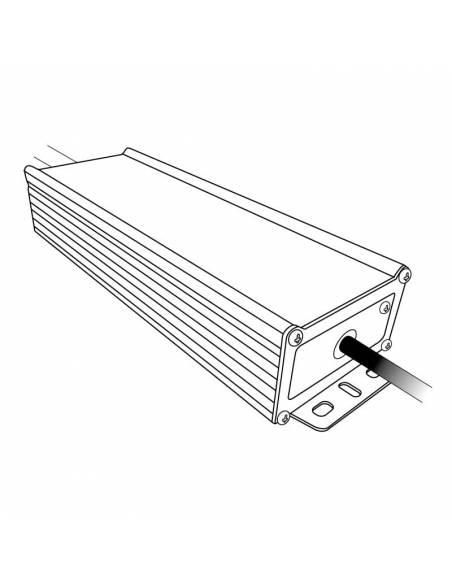 Transformador para tira de LED de 24V. Driver con protección IP67 de 100W. Dibujo técnico.