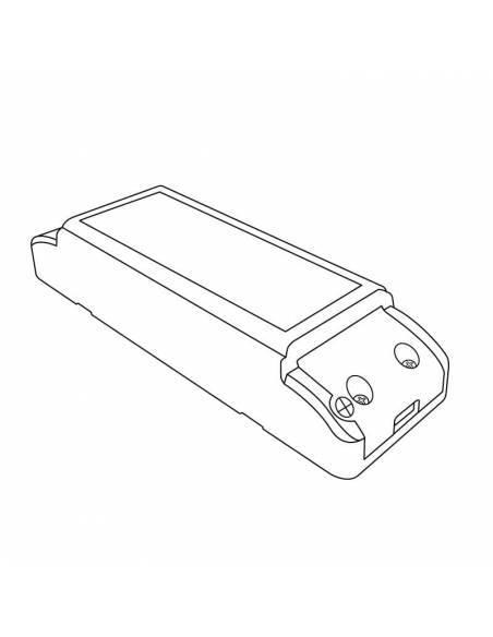 Transformador para tira de led de 24V. Driver con grado de protección IP20 de 36W. Dibujo técnico.