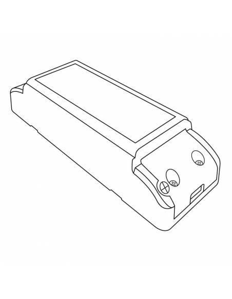 Transformador para tira LED de 24V, Driver IP20 potencia de 60W. Dibujo técnico.