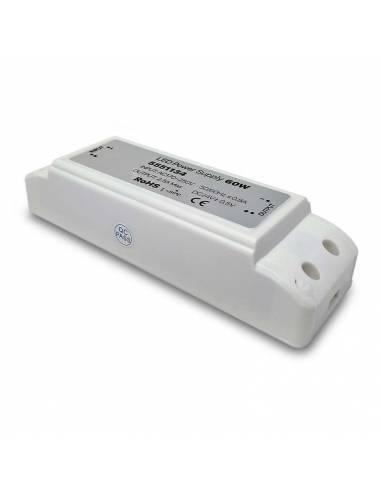 Transformador para tira LED de 24V, Driver IP20 potencia de 60W.