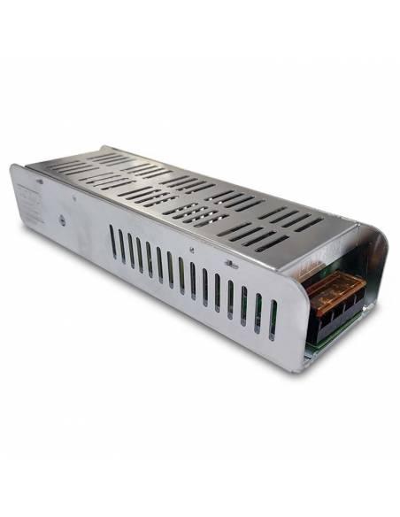 Transformador para tiras de led de 24V. Driver con protección IP20, potencia de 100W.