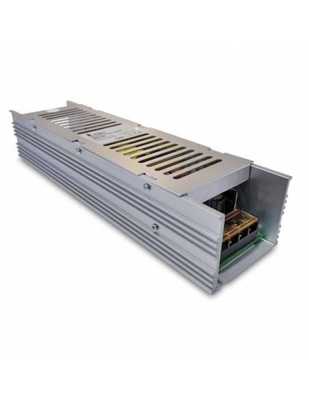 Transformador para tiras de led 24V. Driver con protección IP20 y potencia 300W.
