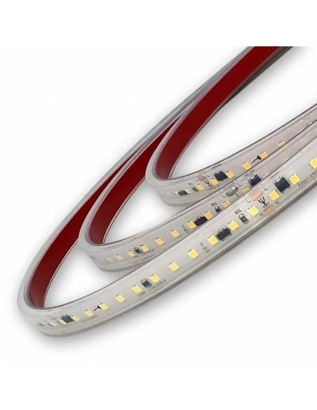 Tira de led directa a red 220V y 230V, Rollo de 50 metros y corte cada 10 cms. Monocolor. Detalle.
