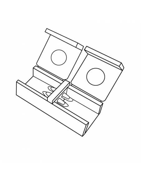 Conector unión directa para tira led de 220V-230V, con corte de 100cms, monocolor. Dibujo técnico.