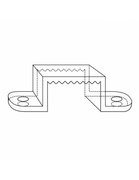 Clip de sujeción para tira led 220V-230V, 2835 de corte 100cms, directa a red, monocolor. dibujo técnico.