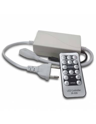 Set controlador con mando para tira led 220V-230V, monocolor, 2835 corte cada 100cms.