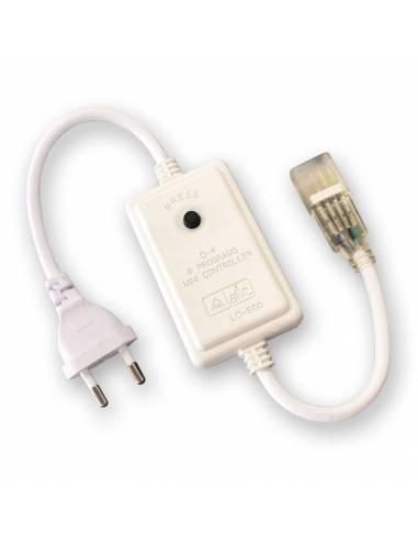 Alimentador más Push RGB, 230V, para tiras LED RGB directa a red de 220V-230V.