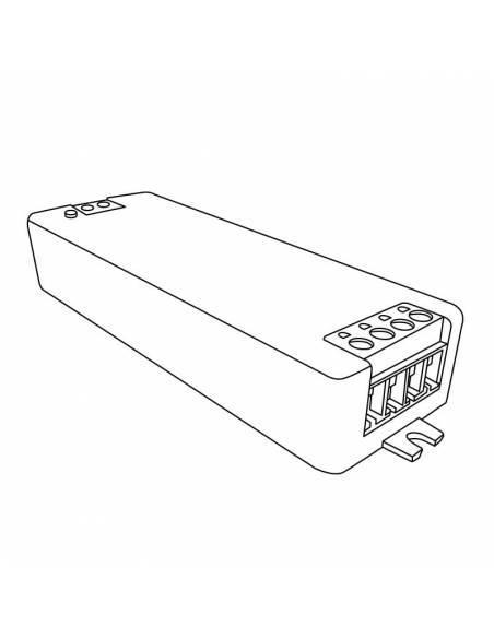 Controlador.1 para tiras de led de 12V y 24V monocolor. Dibujo técnico.