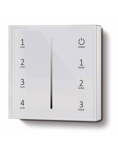Mando a distancia, EMISOR.3, para tiras led monocolor. Color blanco. Colocación en superficie.