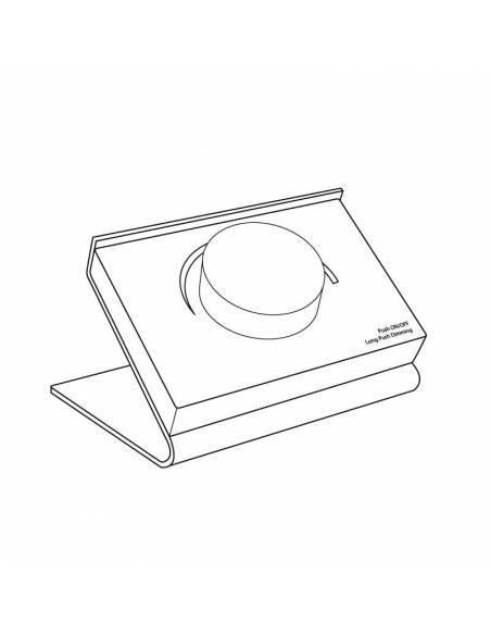 Mando a distancia, EMISOR.13, para tiras led monocolor. Colocación en superficie o sobremesa. Dibujo técnico.