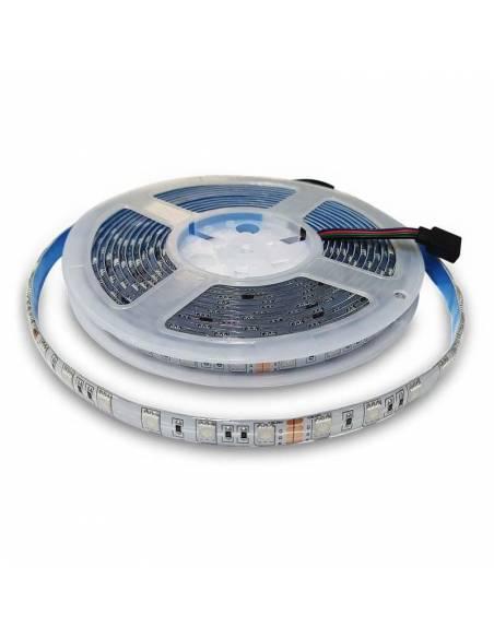 Tira LED 24V, 5050 RGB de 60 LED por metro, grado de protección IP65.