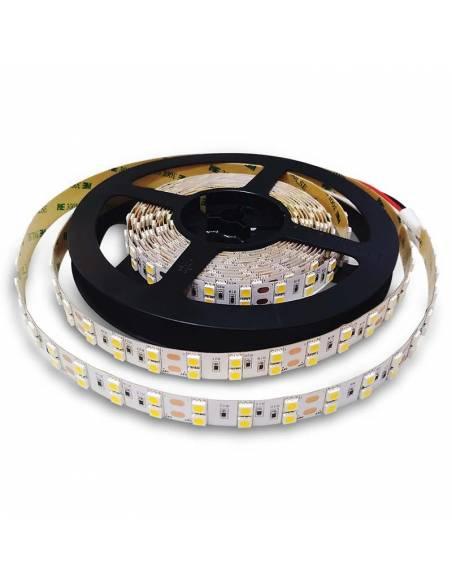 Tira de led 24V, rollo de 5 mts, corte cada 10 cms. 120 LED por metro, proteccion IP20.